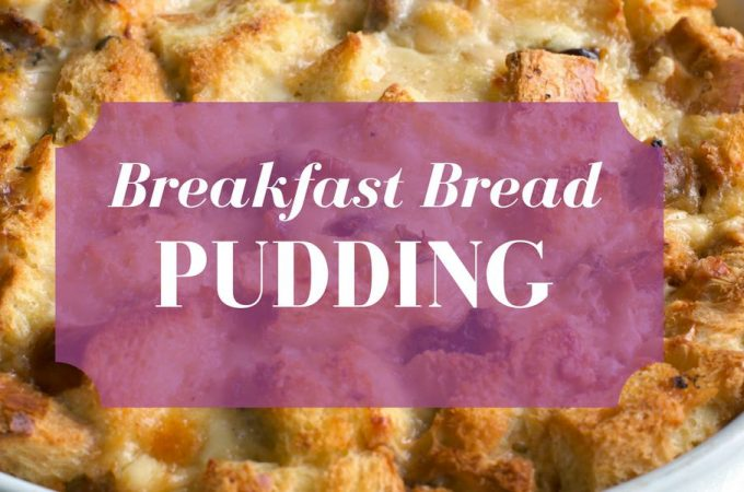 Breakfast Bread Pudding for One
