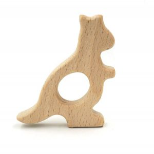 Wooden kangaroo teether